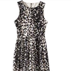 black and white leopard print dress